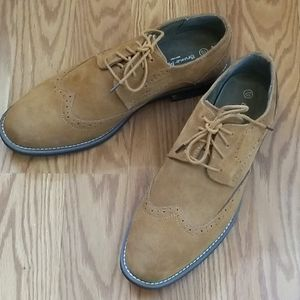 Bruno marc suede oxford shoes 10
